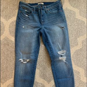 Madewell distressed jeans